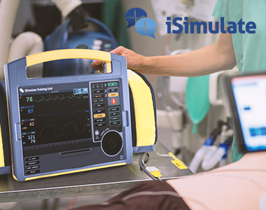isimulate title image with a simulation bag in action