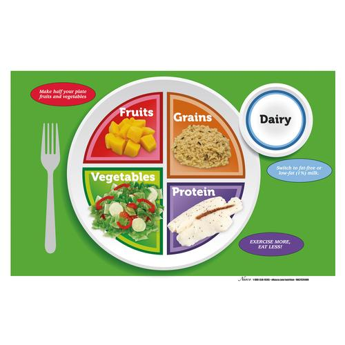 Bloc de feuillets/sets de table MyPlate, 1018322 [W44791TPP], Education alimentaire