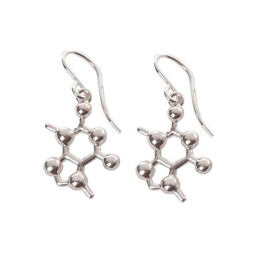 W99589E: Caffeine Molecular Jewelry - Earrings 1