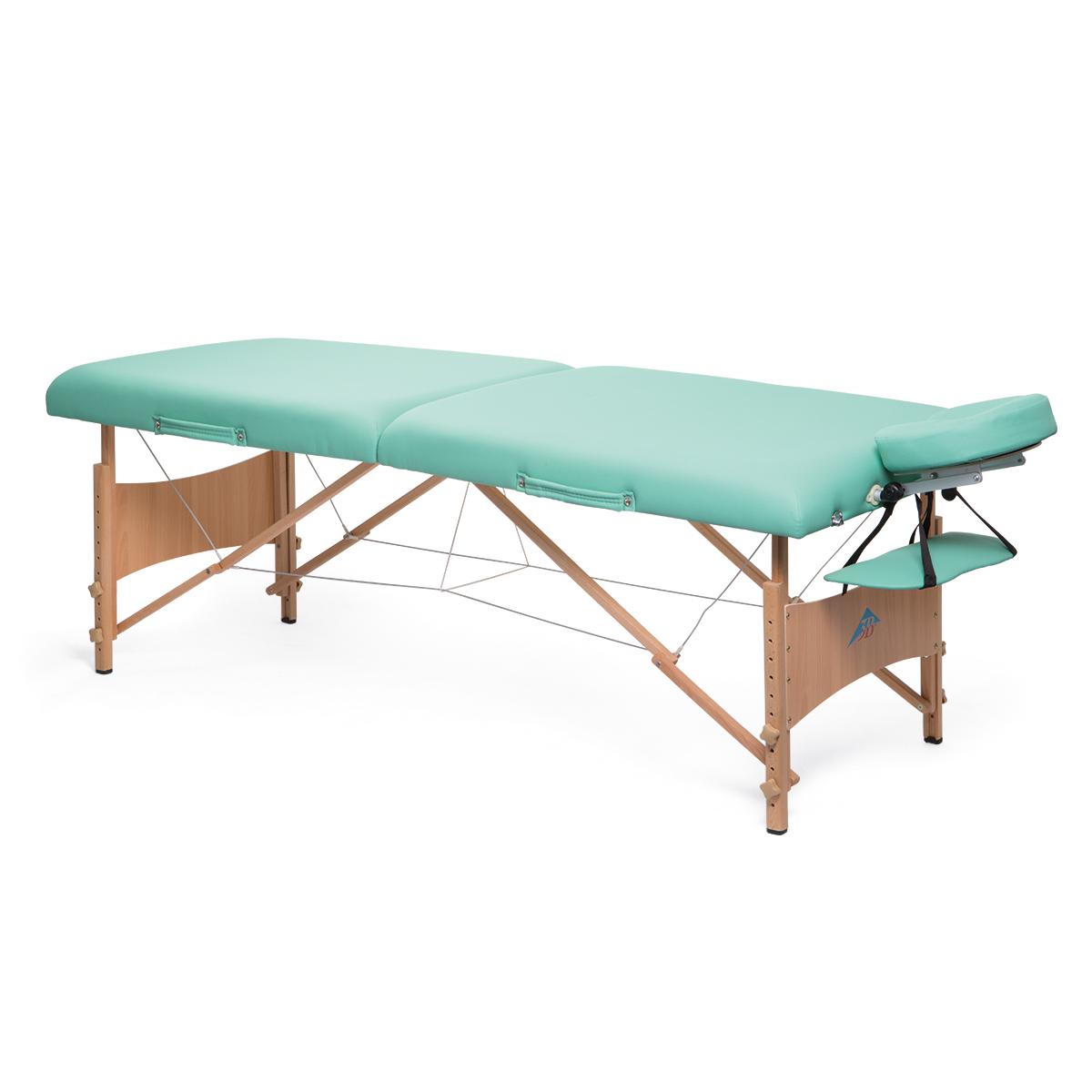 Table de massage portable de luxe vert 1013728 w60613 tables de massage 3b scientific - Table de massage portable ...