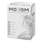 MOXOM Steel - manche spirale acier - avec tubes de guidage, 1022108, Silicone-Coated Acupuncture Needles
