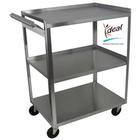 W56105H: 3 Shelf Stainless Steel Utility Cart with Handle