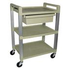 W56110D: Three Shelf Poly Cart with Drawer